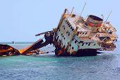 Sunken Ship In The Sea