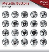 Metallic Buttons - Multimedia