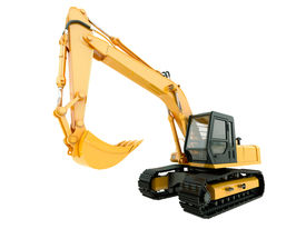 picture of power-shovel  - Construction heavy machine - JPG