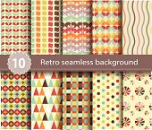 10 retro seamless background