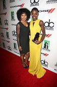 Angela Bassett and Lupita Nyong'o at the 17th Annual Hollywood Film Awards Backstage, Beverly Hilton
