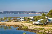 picture of camper-van  - Camping by the sea in Croatia near Betina Island of Murter - JPG