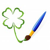 Paint clover and brush