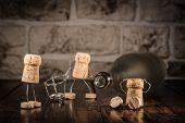 picture of midget  - Concept new beginning with wine cork figures - JPG