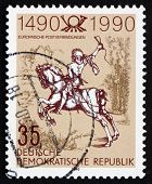 Postage Stamp Gdr 1990 The Young Post Rider