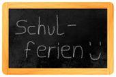 Schulferien Chalk On Blackboard