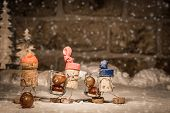 Wine Cork Figures, Concept Harvester With Icewine Grapes