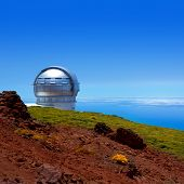 LA PALMA, CANARY ISLANDS, SPAIN - JULY 13, 2012: GTC Gran Telescopio de Canarias by IAC institute in