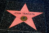 HOLLYWOOD, CALIFORNIA - APRIL 12, 2013: John Travolta Star on Hollywood Walk of Fame in Hollywood Ca