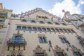 Modernist Casa Amatller, in Barcelona, Spain