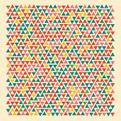 Geometric retro background. Vector.