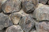 Black Basalt Rock Retaining Wall 1