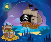 Pirate cove theme image 7 - eps10 vector illustration.