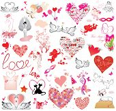 Valentine's day object collection