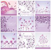 Funny violet cards