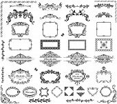 stock photo of marriage decoration  - Vintage frames and headers - JPG