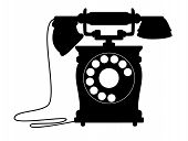 Old-fashioned dial up telephone