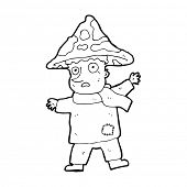 image of magical-mushroom  - cartoon magical mushroom man - JPG
