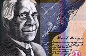 AUSTRALIA - CIRCA 2009: David Unaipon (1872-1967) on 50 Dollars 2009 from Australia. Indigenous Australian whose helped to break many Indigenous Australian stereotypes.
