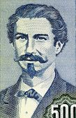 BOLIVIA - CIRCA 1981: Eduardo Abaroa (1838-1879) on 500 Pesos Bolivianos 1981 Banknote from Bolivia. Bolivia's foremost hero of the War of the Pacific.