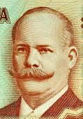 NICARAGUA - CIRCA 2006: Miguel Larreynaga (1772-1847 ) on 20 Cordobas 2006 Banknote from Nicaragua.
