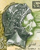 TUNISIA - CIRCA 2008: Hannibal (247-182 BC) on 5 Dinars 2008 Banknote from Tunisia. Punic Carthagini