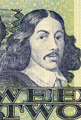 SOUTH AFRICA - CIRCA 1983: Jan van Riebeeck (1819-1877) on 2 Rand 1983 Banknote from South Africa. D
