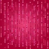 Abstract love matrix background. Vector illustration