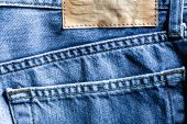 Jeans pocket and lean blank label