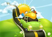 picture of sky diving  - Traveling by car - JPG