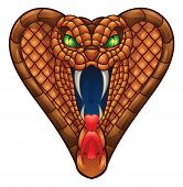 stock photo of snake-head  - Cobra Head Vector Illustration  - JPG