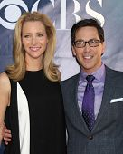 LOS ANGELES - JUL 17:  Lisa Kudrow, Dan Bucantinsky at the CBS TCA July 2014 Party at the Pacific De