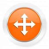 arrow orange computer icon