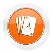 card orange computer icon