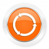 refresh orange computer icon