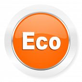 eco orange computer icon