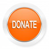 donate orange computer icon