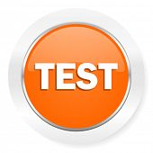 test orange computer icon