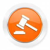 auction orange computer icon