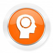 head orange computer icon