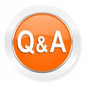 question answer orange computer icon