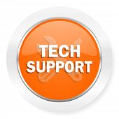 technical support orange computer icon