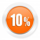 10 percent orange computer icon