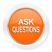 ask questions orange computer icon