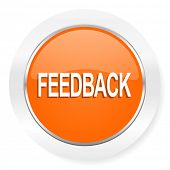 feedback orange computer icon
