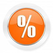 percent orange computer icon