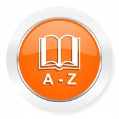 dictionary orange computer icon
