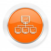 net orange computer icon