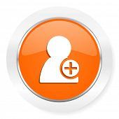add contact orange computer icon
