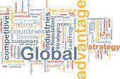 globale Vorteil Hintergrund Konzept